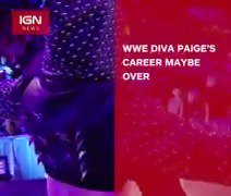 #Paige's #WWE career may be over. https://t.co/60p6h46ivk