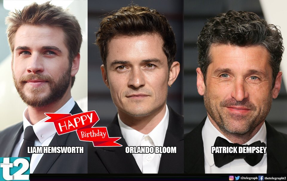 T2 wishes a happy birthday to Holly hunks Orlando Bloom and