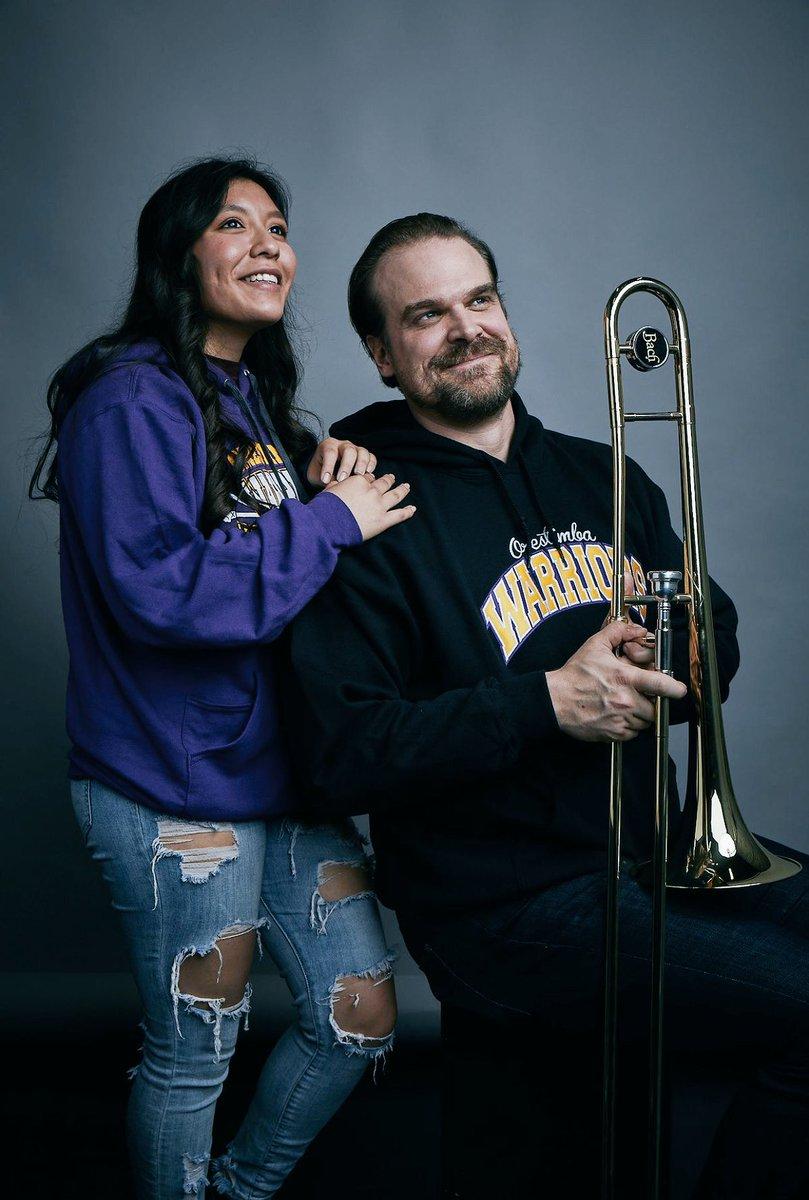 senior photos '18  -bunny ears -trombone...