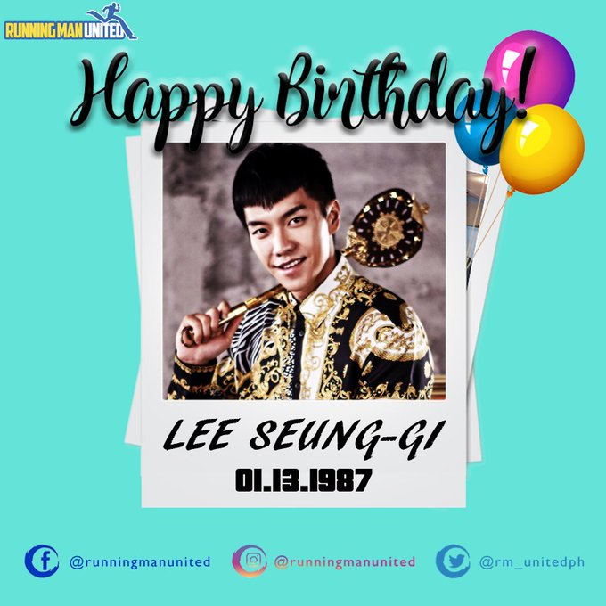 Happy Birthday Lee Seung-gi!
