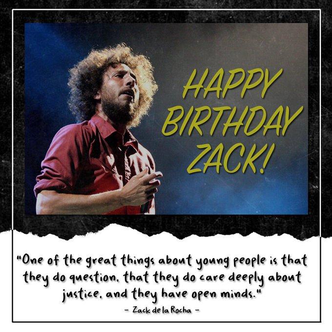 Happy birthday to the legend, Zack de la Rocha!