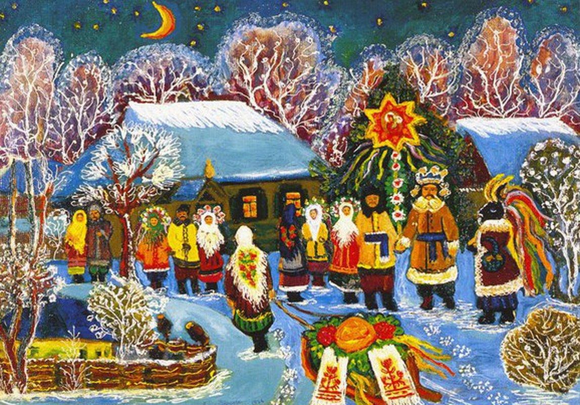 Украинские открытки к новому году, день почерка