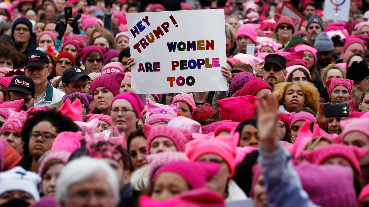 WATCH LIVE: One year after the inaugural Women's March, people gather in cities around the U.S. to march again https://t.co/Gy3MfCbVuS