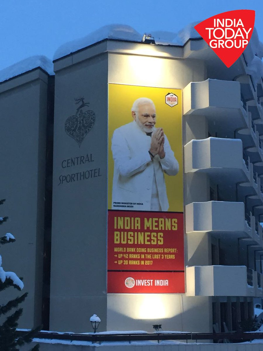 #Davos is ready to host the world leaders at #WorldEconomicForum with Indian flavour painted across the Promenade. This is the first time in two decades when an Indian Prime Minister will be attending the annual meeting of business leaders.  #IndiaTodayAtDavos #ITPhotoblog