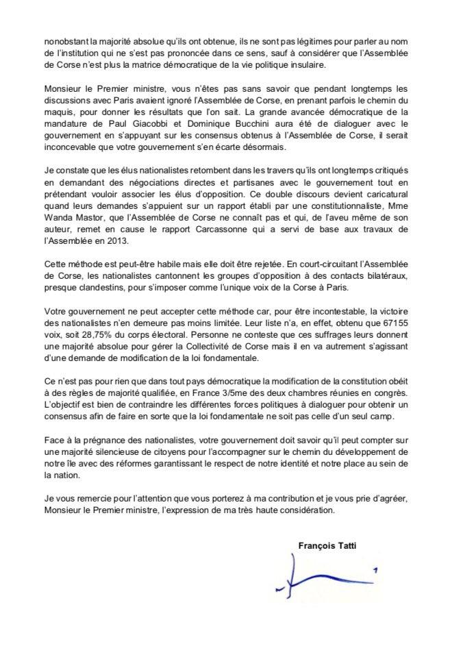 Francois Tatti On Twitter Le Courrier Que J Ai Adresse Aujourd Hui