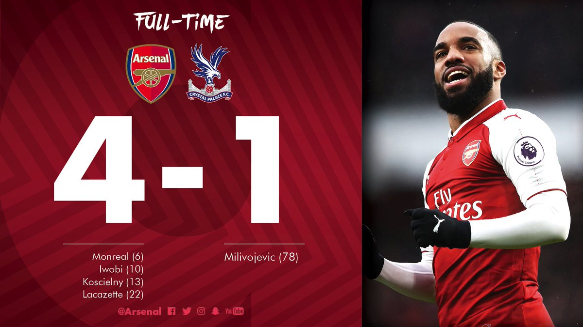 A good day at the office 😄  #AFCvCPFC