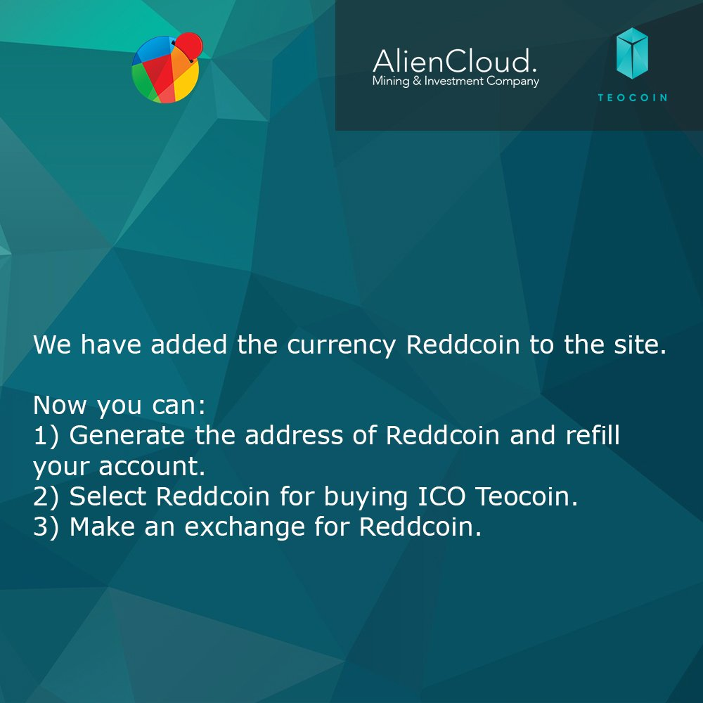Reddcoin cryptocurrency is now on AlienCloud. #Bitcoin #cloudmining #mining #ethereum #AlienCloud #ICO #Reddcoin https://t.co/ad4r45KzLx