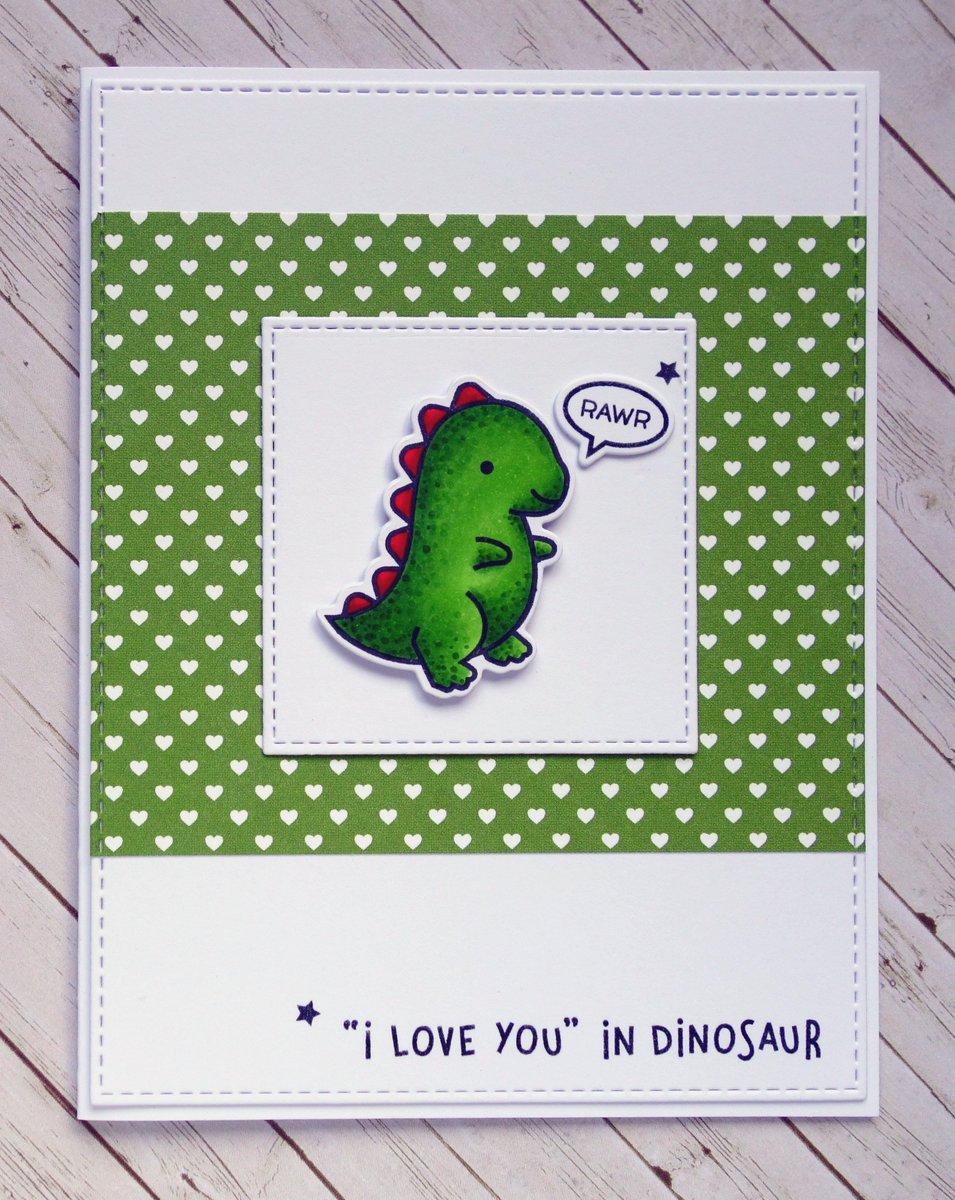 День города, динозавр открытка
