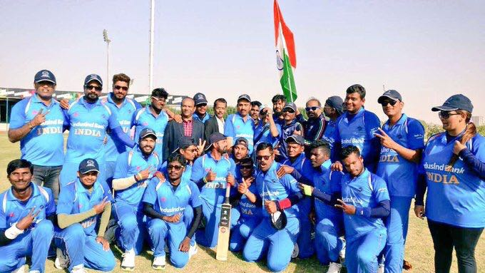 India beats Pakistan by 2 wickets to Lift the Blind World Cup