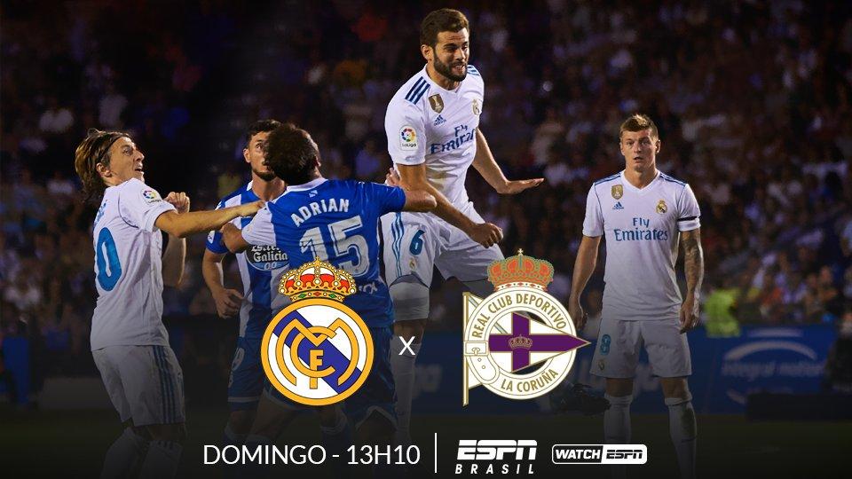 ⚽⚽⚽  AMANHÃ, o Real Madrid enfrenta o Deportivo La Coruña, às 13h10 (Horário de Brasília), AO VIVO na ESPN Brasil e no WatchESPN  #LaLigaNaESPN