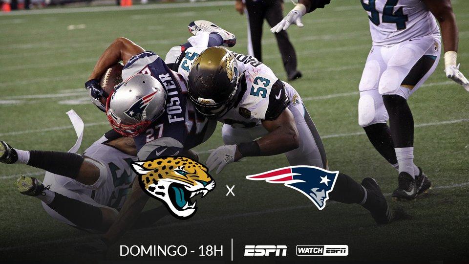 FINAL DA AFC 🏈🏈🏈  AMANHÃ, às 18h (Horário de Brasília), tem a final da AFC entre Jacksonville Jaguars x New England Patriots, AO VIVO na ESPN e no WatchESPN  #NFLnaESPN