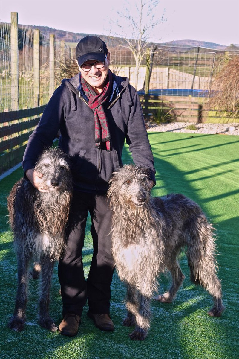 With two of the subjects 'Scottish deerhounds'.....amazing animals