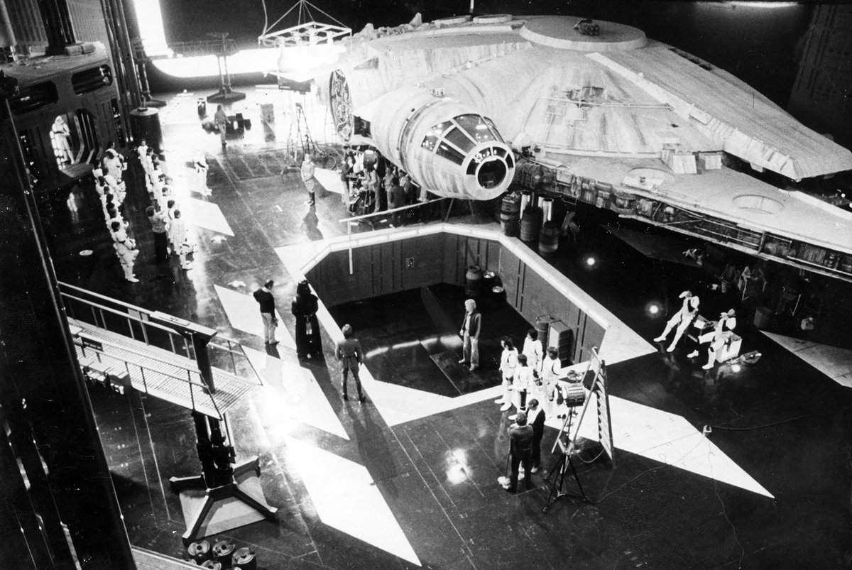 Love Film Festivals On Twitter Rare Behind The Scenes On Star Wars Episode Iv A New Hope At Pinewoodstudios From Stormtroopers W Helmets Off On Death Star Darth Vader To Construction