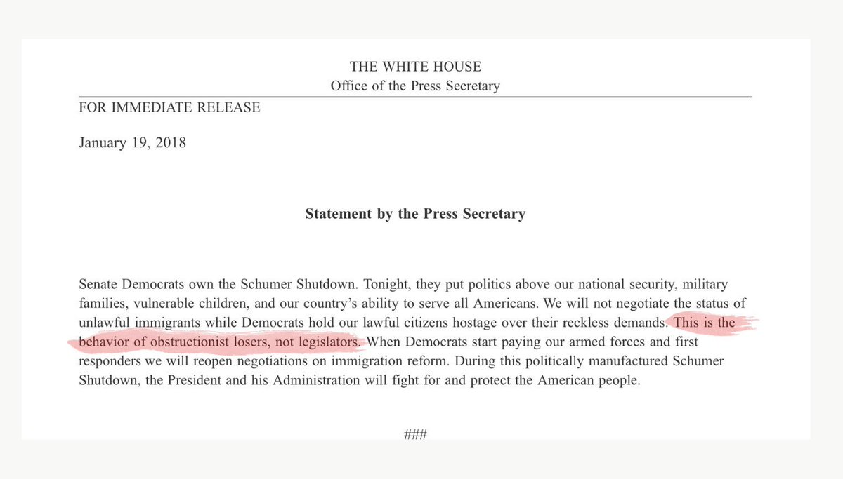 Lol. Official White House statements converging with the language of Trump tweets