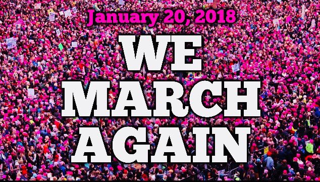 Today's the day! Everyone please join the Women's March in your city! Hundreds of cities holding protests today 2 mark the day Trump took power last yr. This is the yr we take it back! Send me video/pix of the March in your town at Midwesternfilms@gmail.com  See u in the streets!