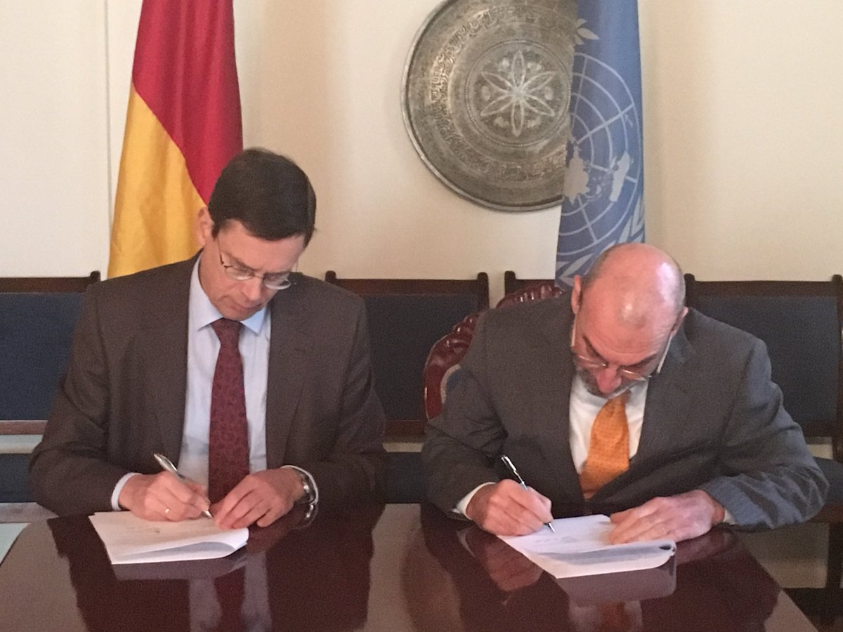 Germany signed agreement with #UNDP on €7mn contribution for upcoming parliamentary elections in #Afghanistan. Together with our international partners, we strive to support the Afghan government in this important democratic endeavour
