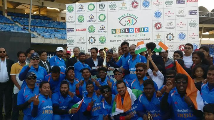 India defeat Pakistan by 2 wickets to win the Blind Cricket World Cup (2018)