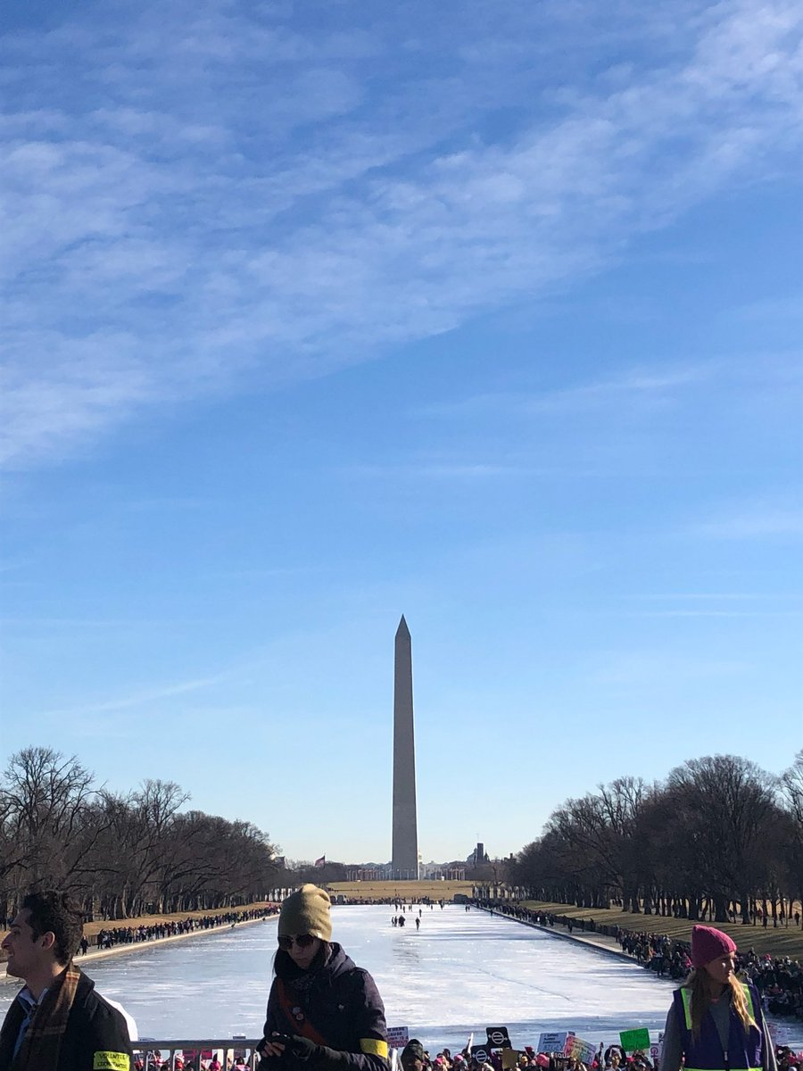 It's a beautiful morning in DC to march for women's rights! #WomenMarch2018 #WomensMarchDC