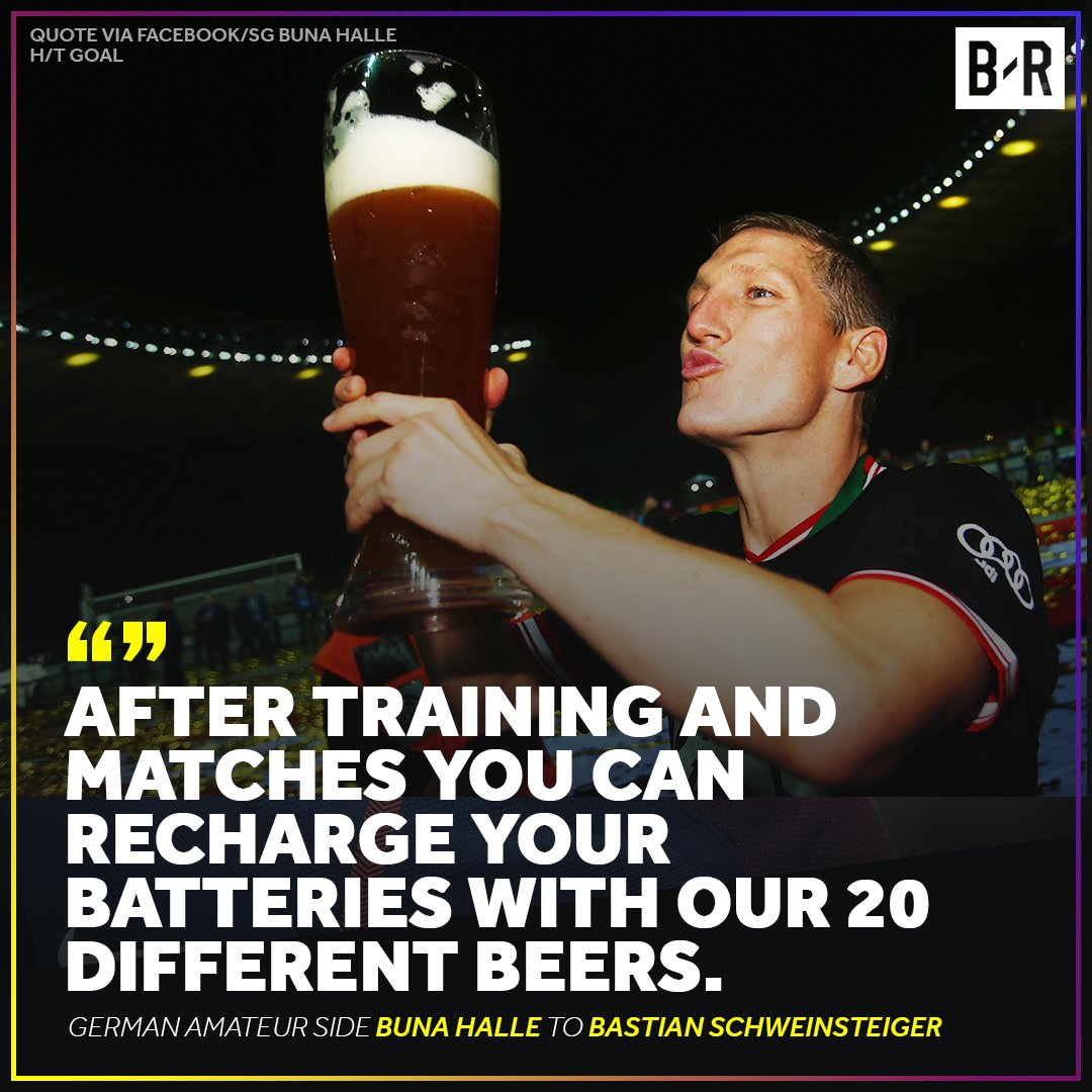 Bastian Schweinsteiger has been offered a plot of land and selection of beer to sign with German amateur club Buna Halle 😂🍺