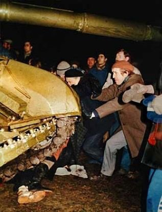 January 13, 1991, Vilnius Lithuania. Nev...