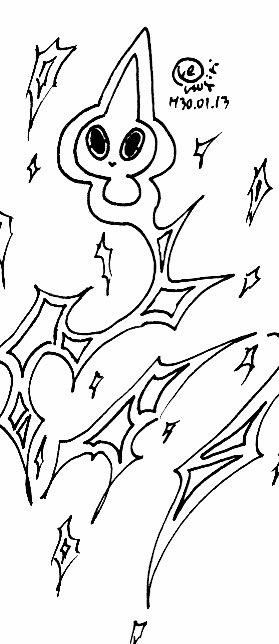 【お絵描き】ポケモン絵。ゆるゆるゆるらくがき。自由なスパーク(?