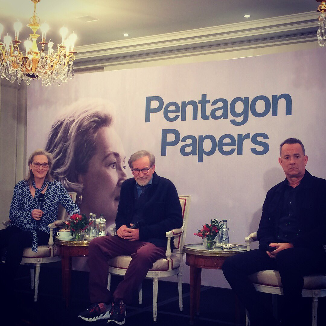 Meryl Streep, Steven Spielberg et Tom Hanks à Paris