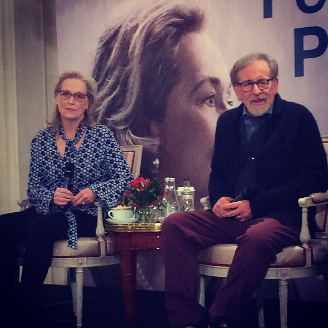 Meryl Streep et Steven Spielberg à Paris