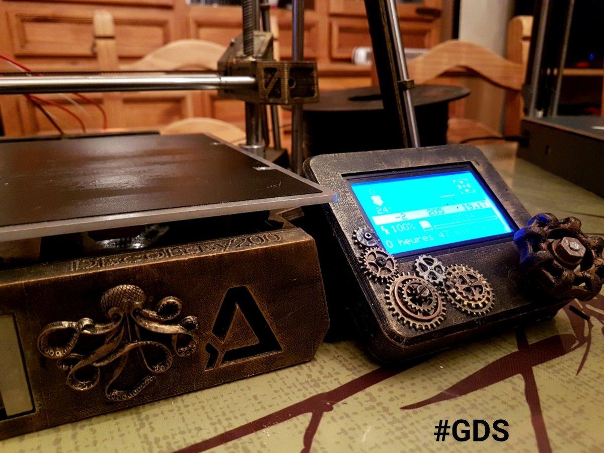 #Geek Awesome of the Day: #Steampunk Customized #3D Printer via @geeksdusud #SamaCuriosities #SamaGeek