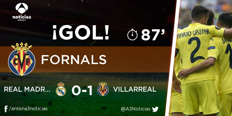 ¡GOL de Pablo Fornals (Villarreal)! Real...