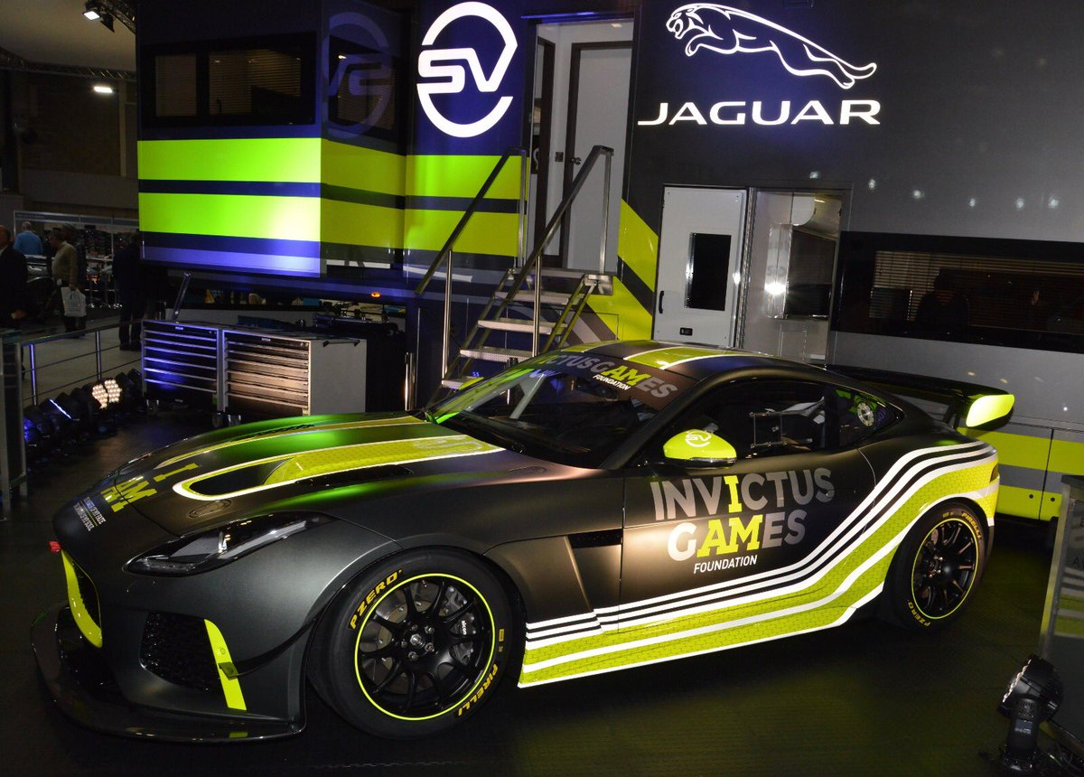 .@RacingInvictus is coming to the @BritishGT Championship in 2018! A team of four injured ex-service personnel will drive jaw-dropping F-TYPE SVR GT4s when the season begins later this year. 🏆🇬🇧 #ASI18 #IAmInvictus