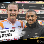 #KINvCHE🏉  @fredzeilinga picks up the man-of-the-match award after he scores 15 points in @CheetahsRugby's derby win over the @SouthernKingsSA 👏  #GUINNESSPRO14