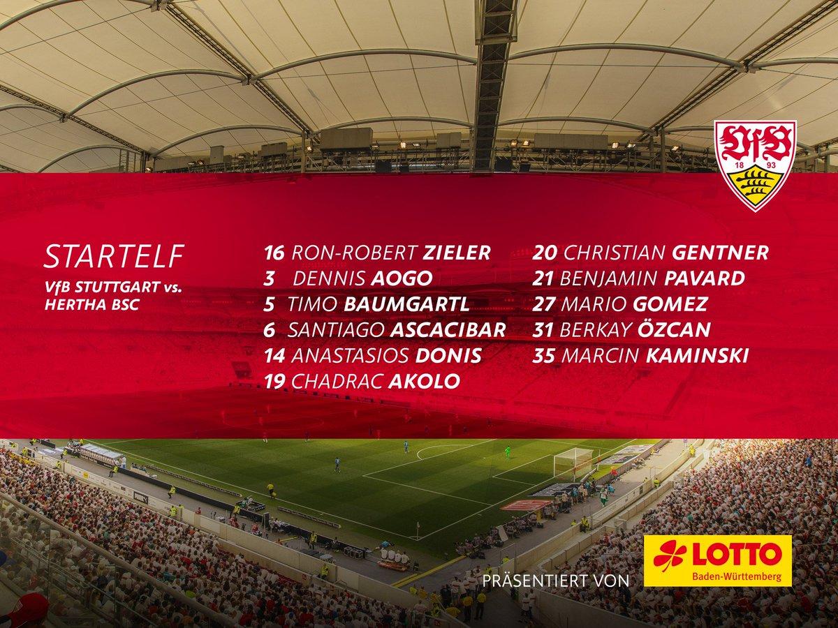 Unsere Startelf! #VfBBSC #stuttgartgehtab<br>http://pic.twitter.com/SwGEGRk4Uk