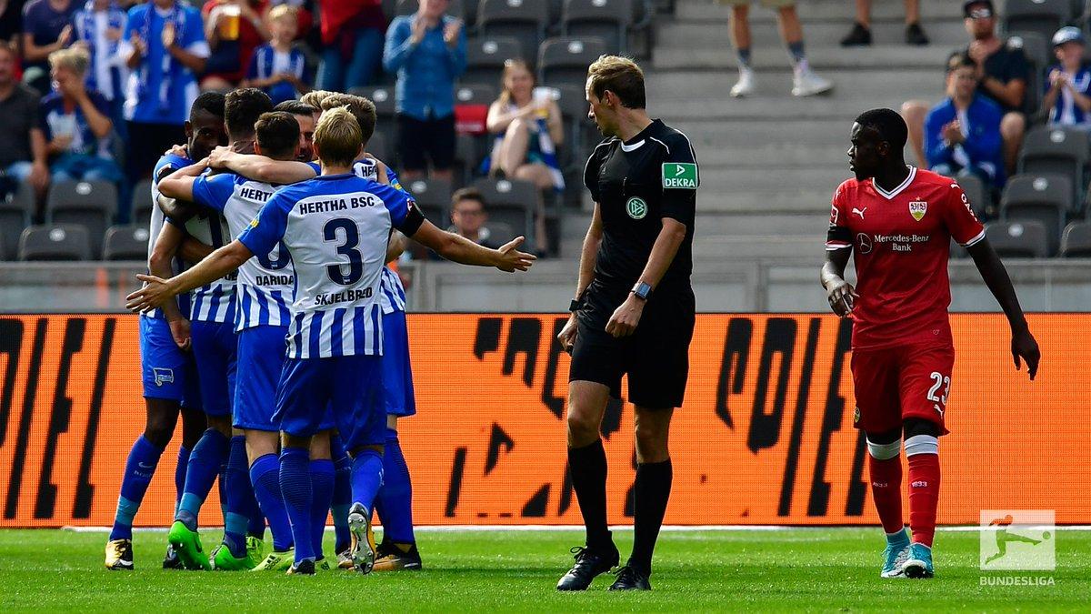 Form table    Hertha (3rd)   Stuttgart (18th)  Today, their paths cross. #VfBBSC <br>http://pic.twitter.com/AJztFrzcjX