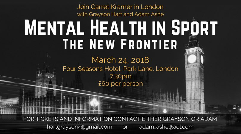 Grayson Hart On Twitter Mental Health In Sport Live Event I M
