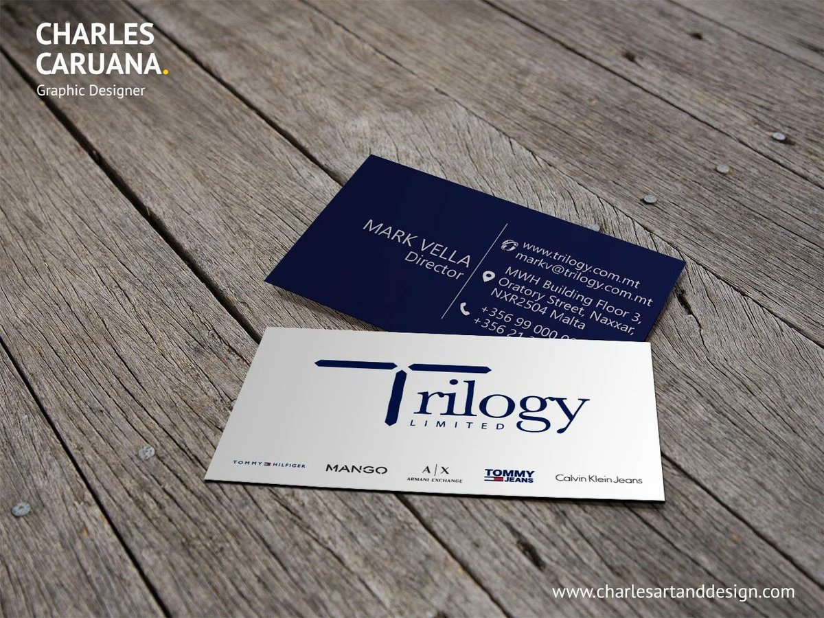 Charles Caruana On Twitter Business Cards Designed For Trilogy Ltd
