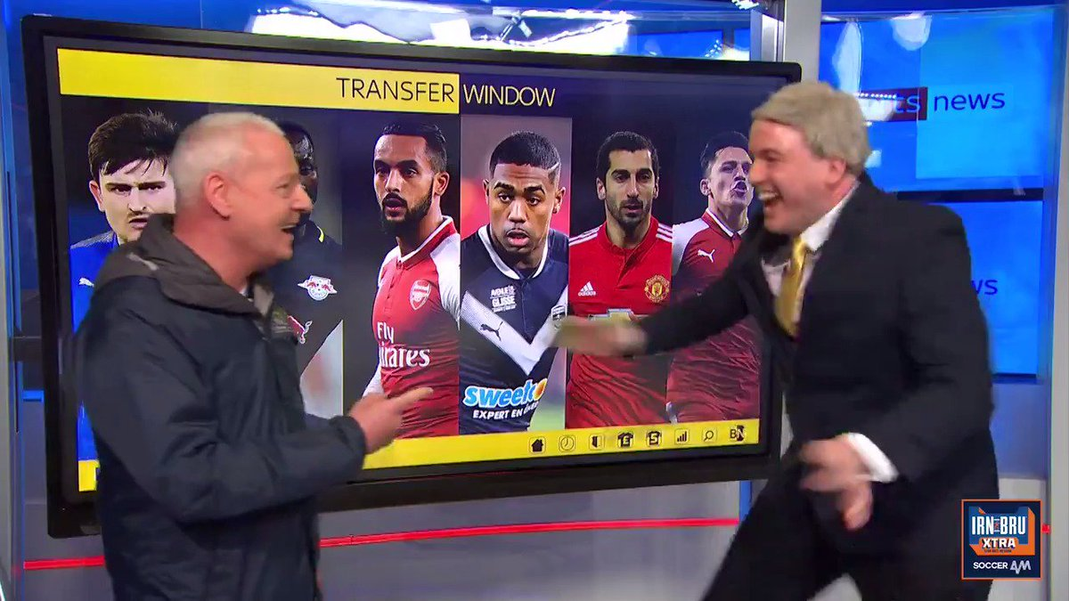 When youre doing impressions of Jim White without realising hes in the room. @MattForde s reaction when Jim walks in... 😂