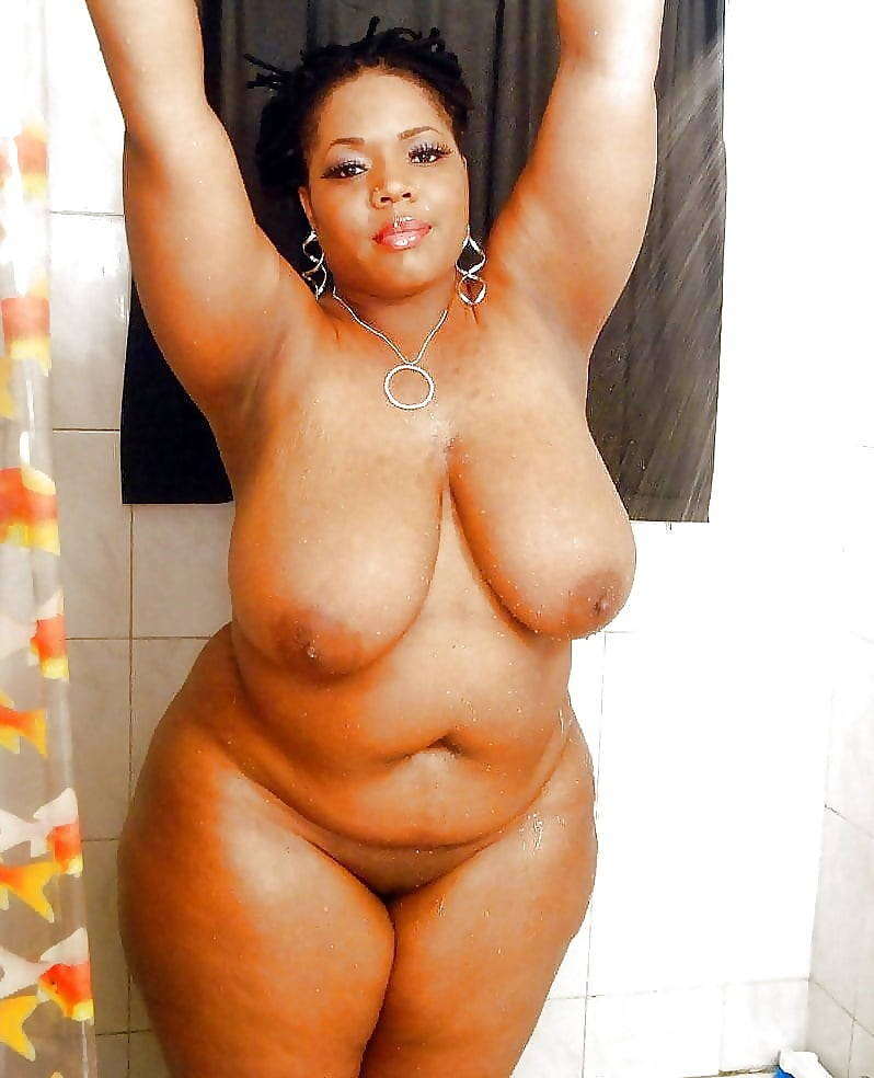 Naked chubby ebony thumbs