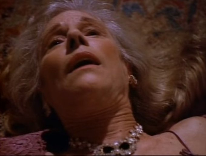 """Happy Birthday to Frances Sternhagen, star of the Tales from the Crypt episode \""""None but the Lonely Heart\""""!"""