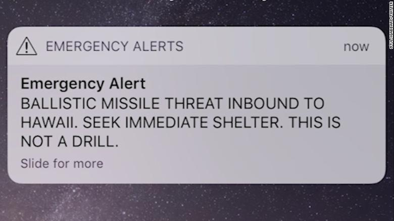 False missile threat sends Hawaii residents into panic mode