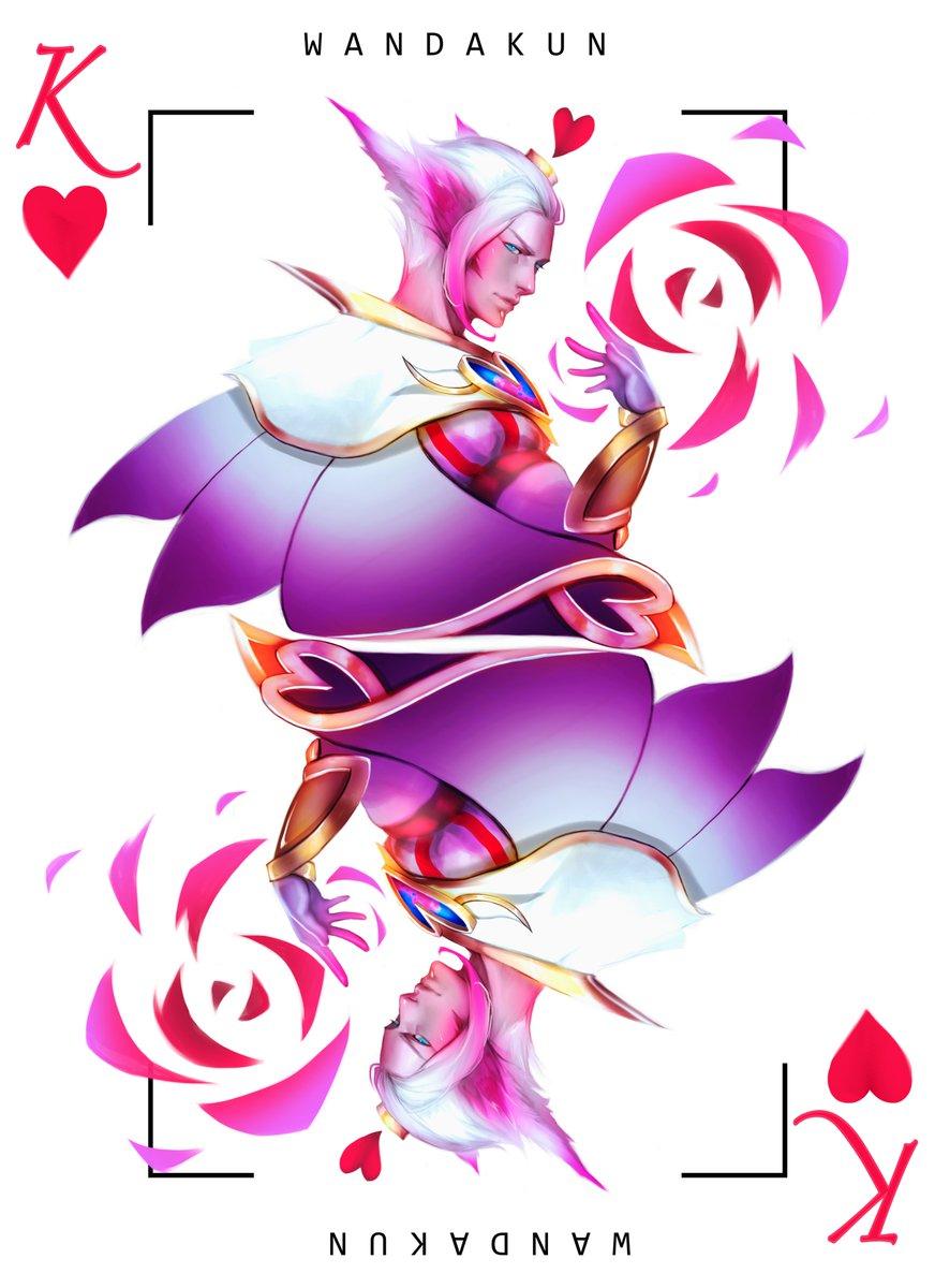 ❤️💙 King of Hearts Rakan - Queen of Hearts Xayah 💙❤️  #artoflegends #leagueoflegends #rakan #xayah https://t.co/tyoadWqI0C