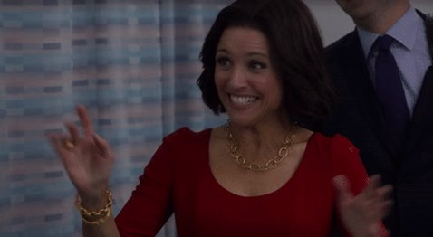 We\re just as excited as you are, Julia Louis-Dreyfus. Happy birthday!