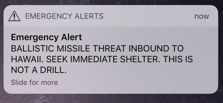 Derp! Hawaii gets false emergency alert about incoming ballistic missile attack