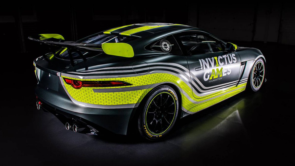 Wounded, injured and sick veterans will campaign this supercharged V8 F-type as Jaguar and Invictus Games go racing in the British GT4 >> https://t.co/US9NFq7NRX