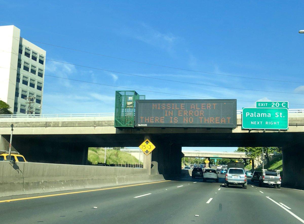 Signs on Hawaii freeways read: