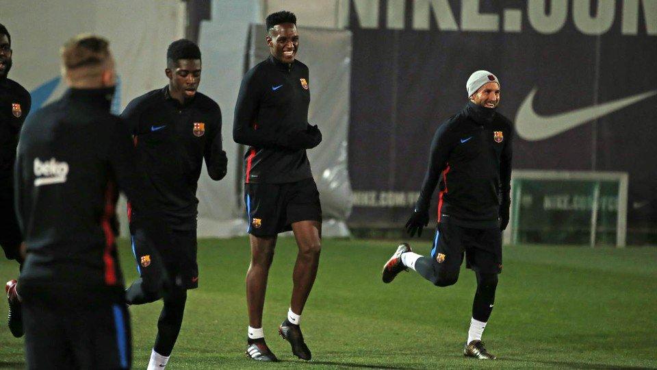 Міна провів перше тренування з Барселоною, але з Реал Сосьєдадом не зіграє - изображение 1