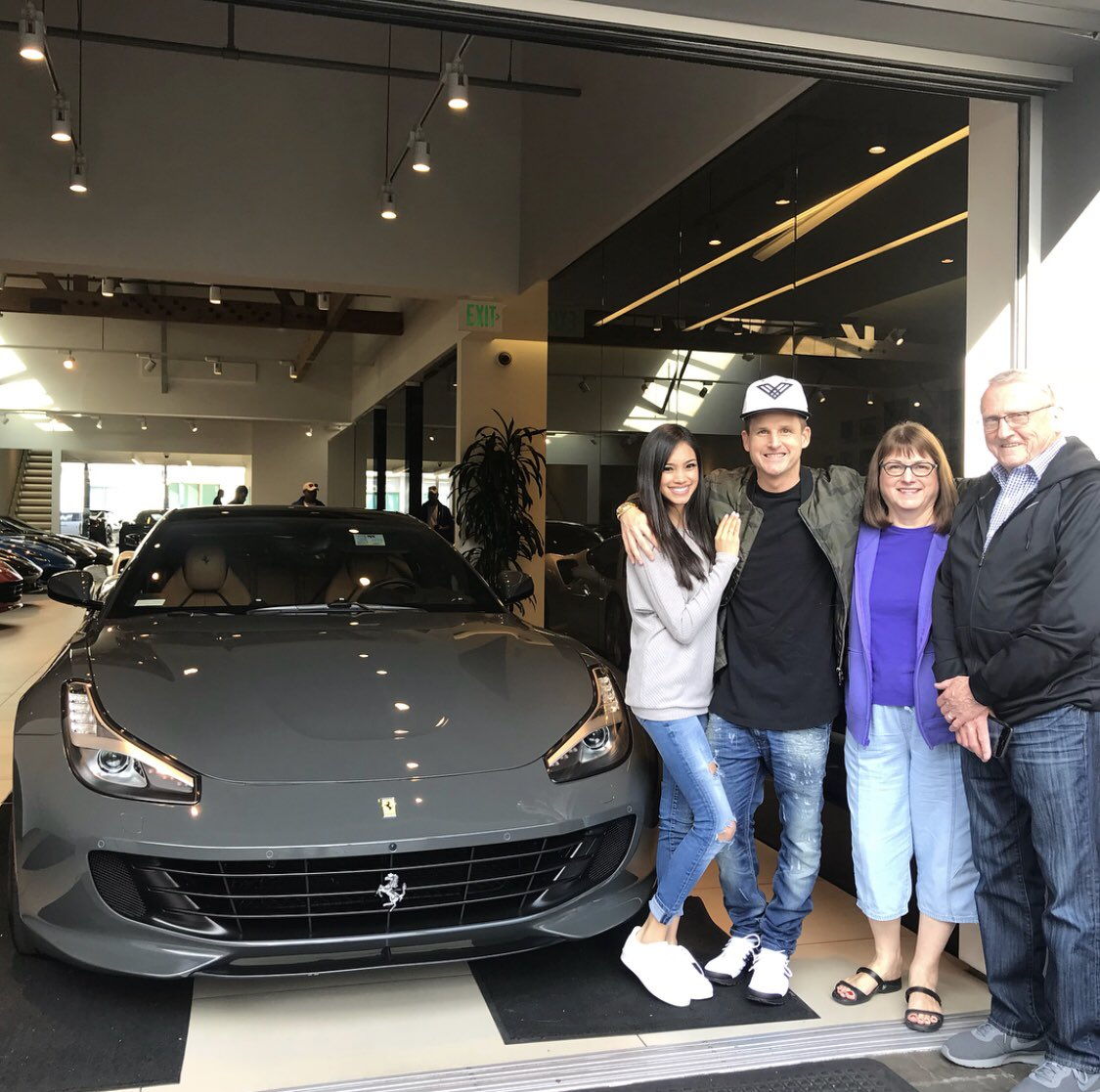 Rob Dyrdek On Twitter Picked Up A Ferrari Gtc4lusso With The Family Today Although No Part Of Patdyr Thinks The Price Tag Is Worth It Her And Gene Appreciated The Leg Room