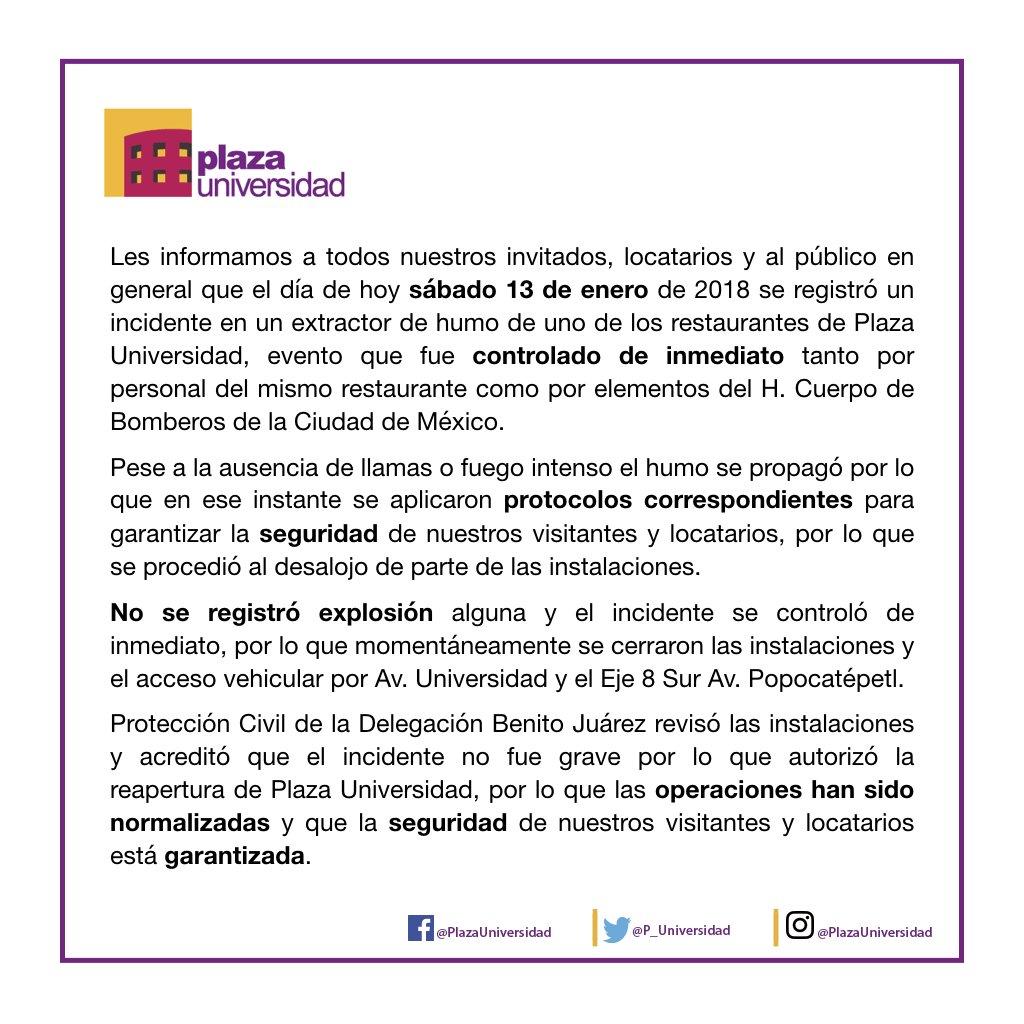 @UnoNoticias El incidente se controló de...