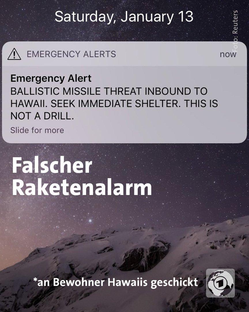 """Ein Mitarbeiter der Katastrophenschutzbehörde hatte anscheinend  den 'falschen Knopf"""" gedrückt. #Hawaii"""