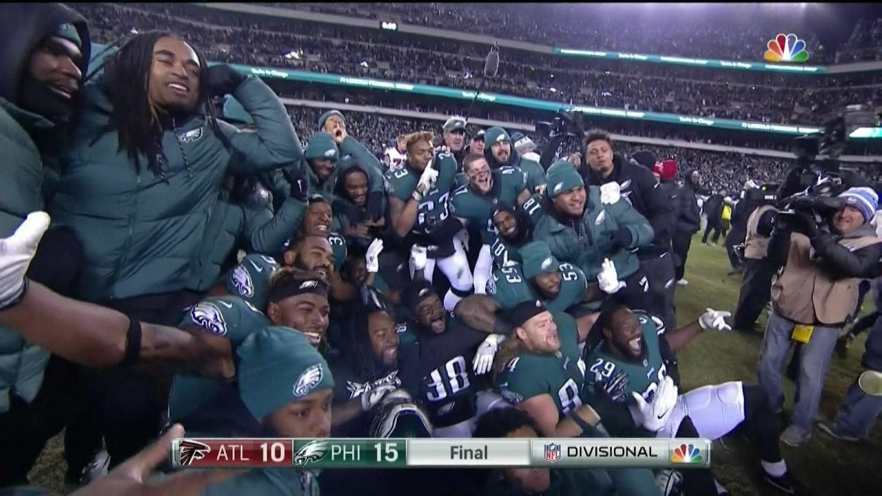 STRIKE A POSE IF YOU'RE GOING TO THE NFC CHAMPIONSHIP GAME https://t.co/zu6X3LLBVQ