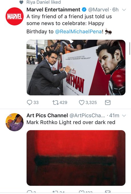 So my timeline did a thing ( Luis reference) Also Happy Birthday Michael Pena!